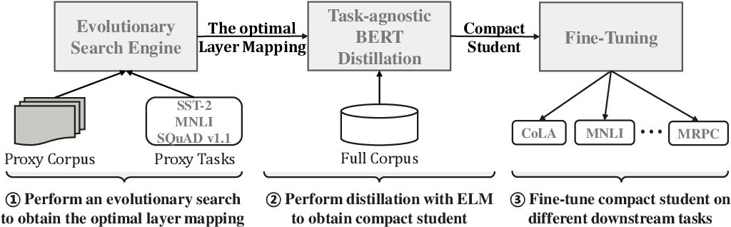 Figure 3 for Improving Task-Agnostic BERT Distillation with Layer Mapping Search