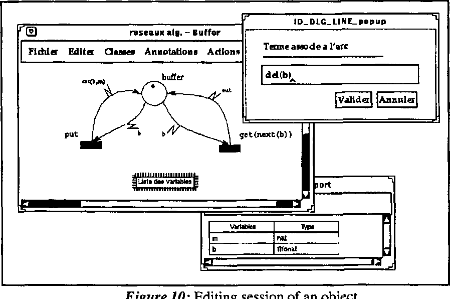 Figure 10: Editing session of an object
