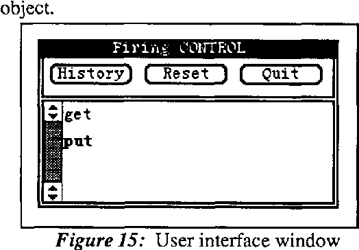 Figure 15: User interface window