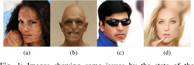 Figure 1 for Symmetric Skip Connection Wasserstein GAN for High-Resolution Facial Image Inpainting