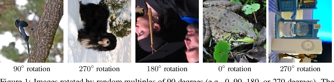 Figure 1 for Unsupervised Representation Learning by Predicting Image Rotations