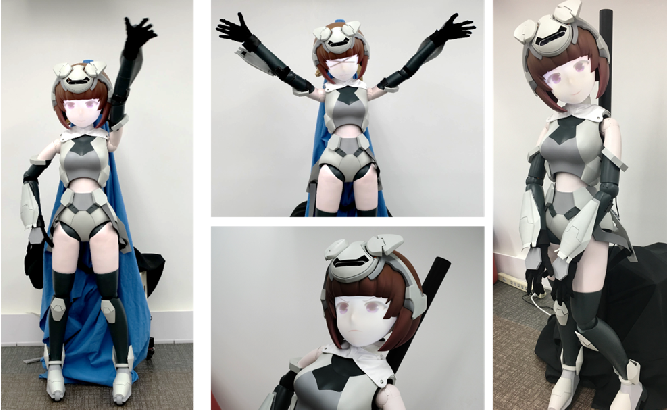Figure 1 for HATSUKI : An anime character like robot figure platform with anime-style expressions and imitation learning based action generation