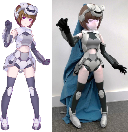 Figure 4 for HATSUKI : An anime character like robot figure platform with anime-style expressions and imitation learning based action generation