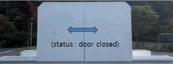 Fig. 3. Noise level test equipment of the door open/close operation(outdoor status)