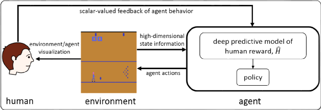 Figure 1 for Deep TAMER: Interactive Agent Shaping in High-Dimensional State Spaces