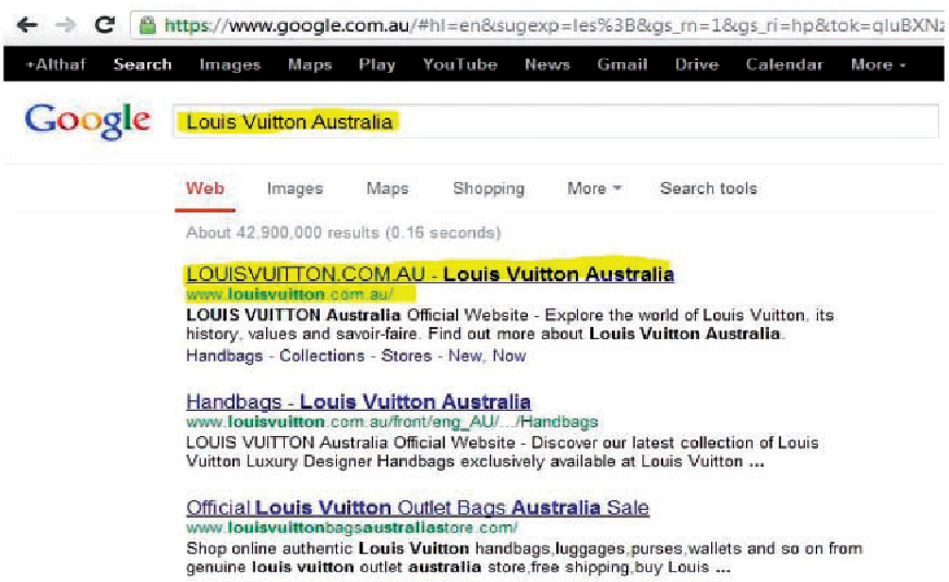 Figure 1. Google's search results page