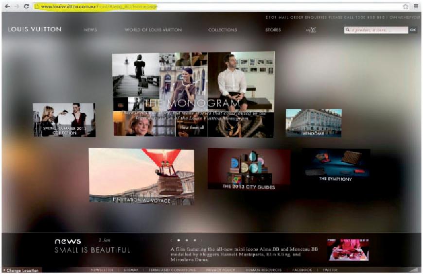 Figure 4. Louis Vuitton Australia's official webpage