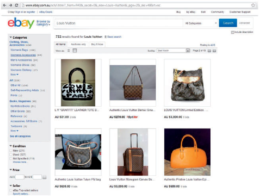 Figure 6. eBay's search results page