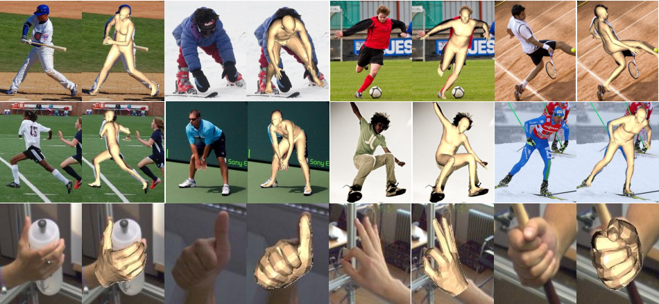Figure 1 for I2L-MeshNet: Image-to-Lixel Prediction Network for Accurate 3D Human Pose and Mesh Estimation from a Single RGB Image