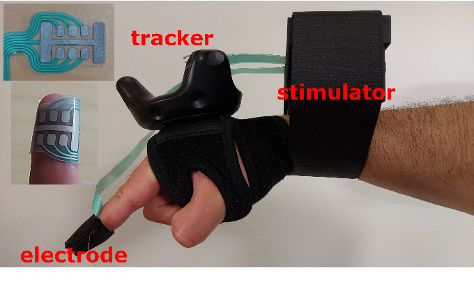 Figure 2 for Electrotactile Feedback in Virtual Reality For Precise and Accurate Contact Rendering