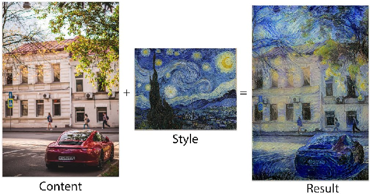 Figure 1 for Style Transfer With Adaptation to the Central Objects of the Scene