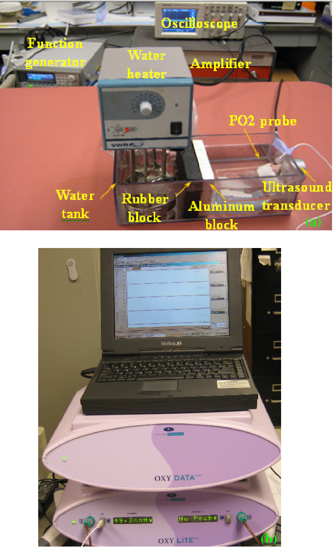 Fig. 1: Experimental setup: (a) setup for underwater pO2 measurement; (c) Oxylite system.