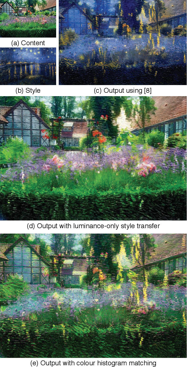 Figure 2 for Controlling Perceptual Factors in Neural Style Transfer