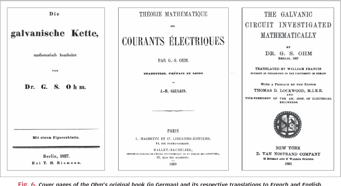 Georg Simon Ohm And The First Comprehensive Theory Of Electrical