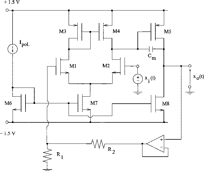 Fig. 1. Schematic of the OTA.