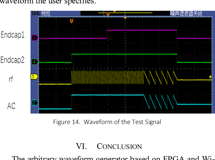 Design of arbitrary waveform generator based on FPGA and Wi-Fi for