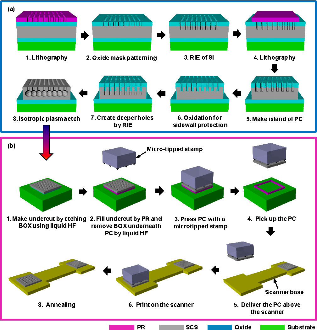 Figure 3 from Two-axis MEMS scanner with transfer-printed
