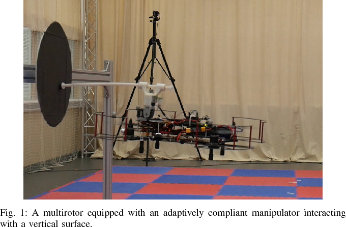 Figure 1 for Towards An Adaptive Compliant Aerial Manipulator for Contact-Based Interaction