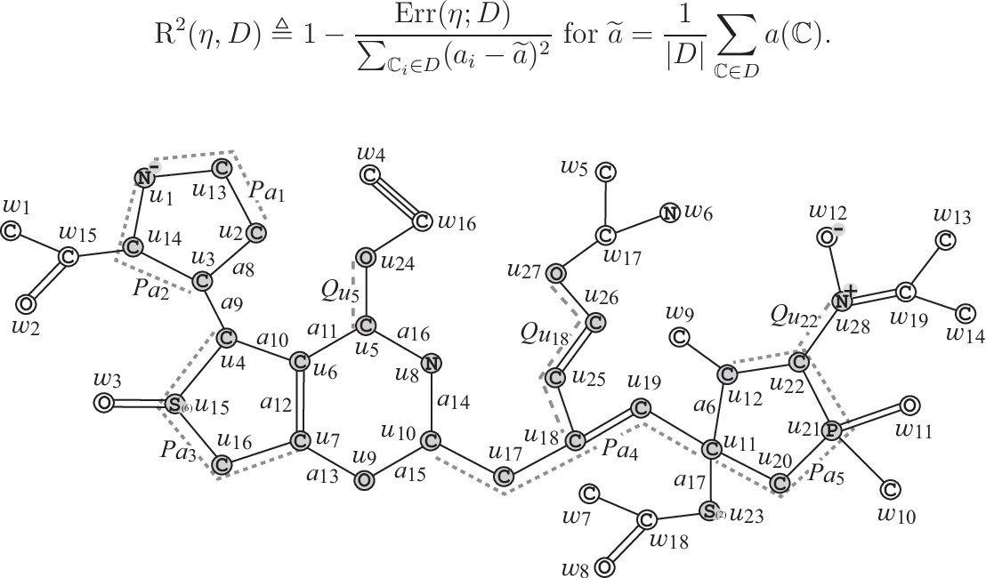Figure 3 for Molecular Design Based on Artificial Neural Networks, Integer Programming and Grid Neighbor Search