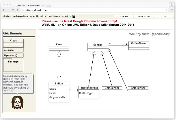 Figure 1 from revealing students uml class diagram modelling 1 students work in progress using the online editor ccuart Choice Image