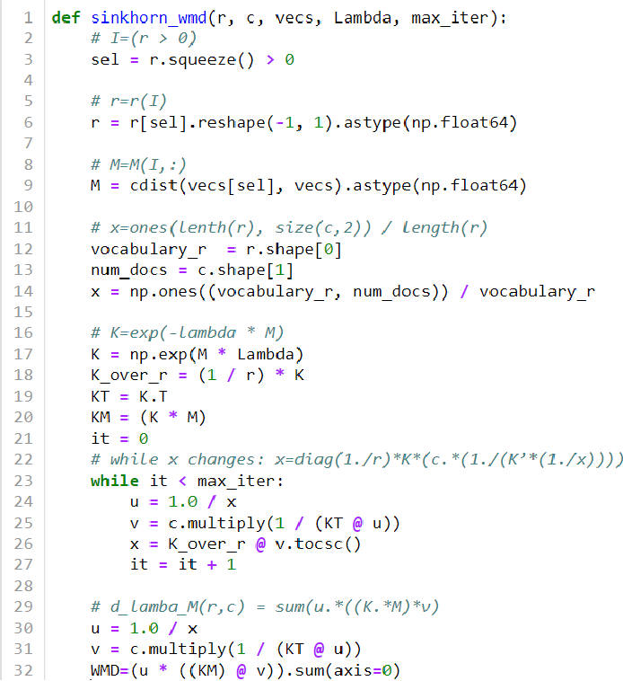 Figure 4 for A New Parallel Algorithm for Sinkhorn Word-Movers Distance and Its Performance on PIUMA and Xeon CPU