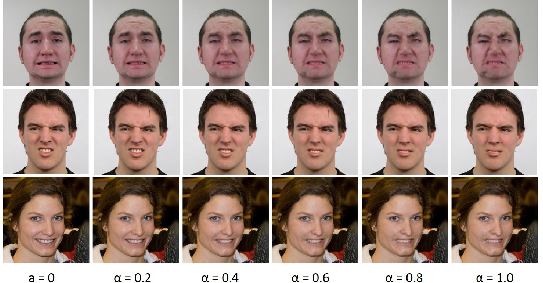 Figure 4 for Animating Through Warping: an Efficient Method for High-Quality Facial Expression Animation