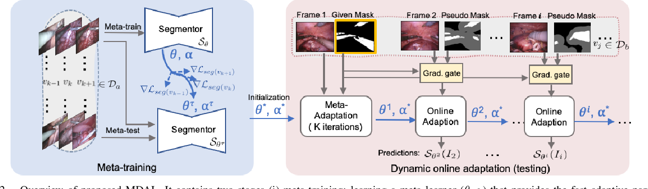 Figure 2 for One to Many: Adaptive Instrument Segmentation via Meta Learning and Dynamic Online Adaptation in Robotic Surgical Video
