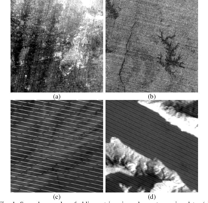 Figure 1 for Oblique Stripe Removal in Remote Sensing Images via Oriented Variation