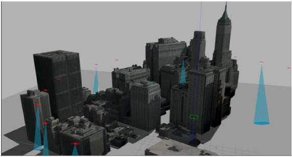 Figure 1 for LSwarm: Efficient Collision Avoidance for Large Swarms with Coverage Constraints in Complex Urban Scenes