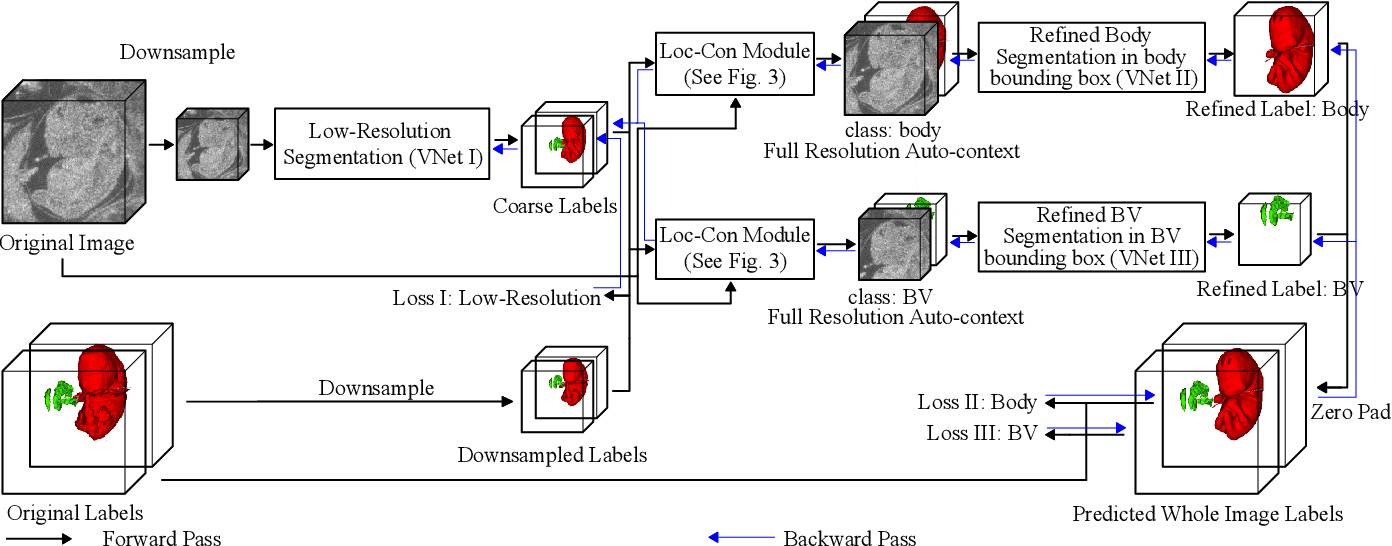Figure 3 for Deep Mouse: An End-to-end Auto-context Refinement Framework for Brain Ventricle and Body Segmentation in Embryonic Mice Ultrasound Volumes