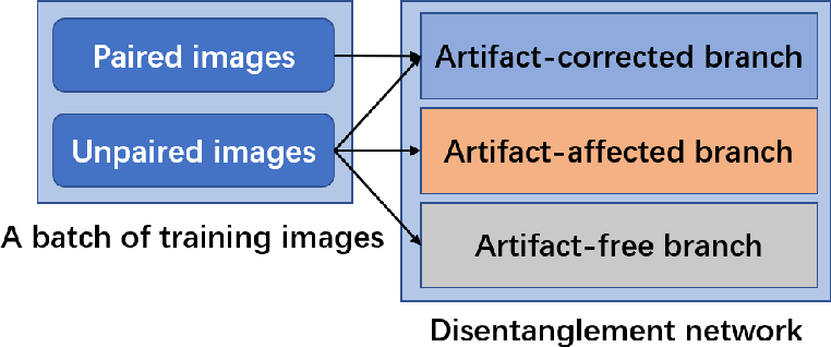 Figure 2 for Low-dimensional Manifold Constrained Disentanglement Network for Metal Artifact Reduction