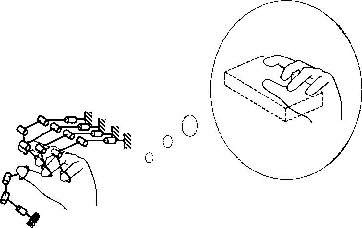 Fig. 1. Impedance display using multiple-link mechanisms.
