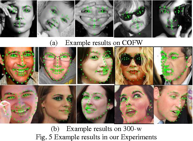 Figure 2 for Effective face landmark localization via single deep network
