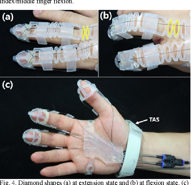 development of a polymer based tendon driven wearable robotic hand