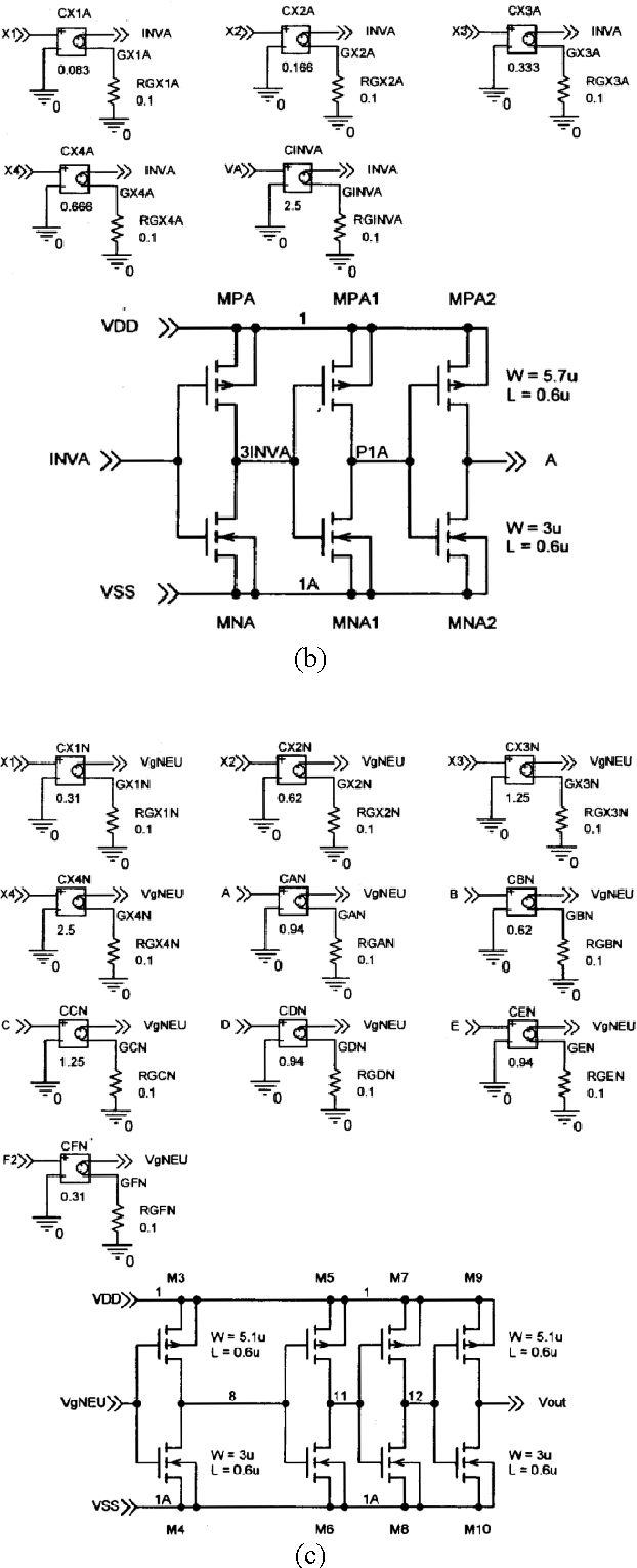 4. Schematic diagram of the universal circuit used for logic gates  configured with