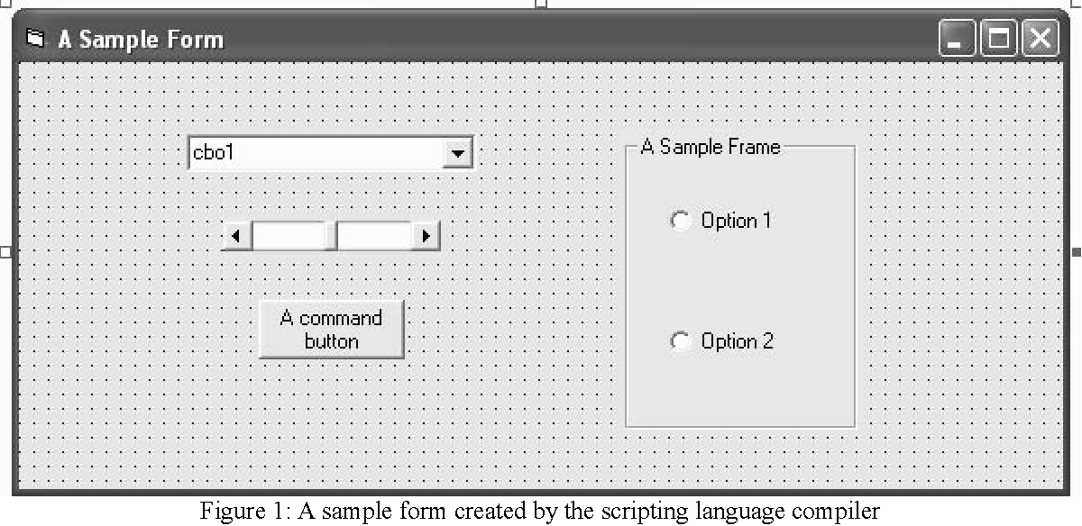 Figure 1 from Extending a scripting language for visual