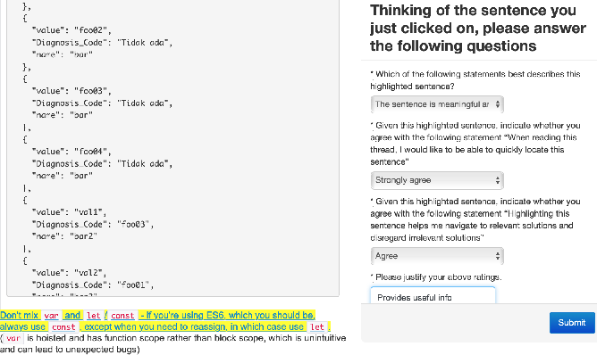 Figure 3 for Essential Sentences for Navigating Stack Overflow Answers