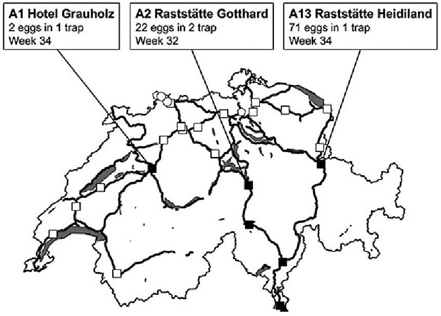 Figure 1 From Hungary Surveillance And Control Of Aedes Albopictus