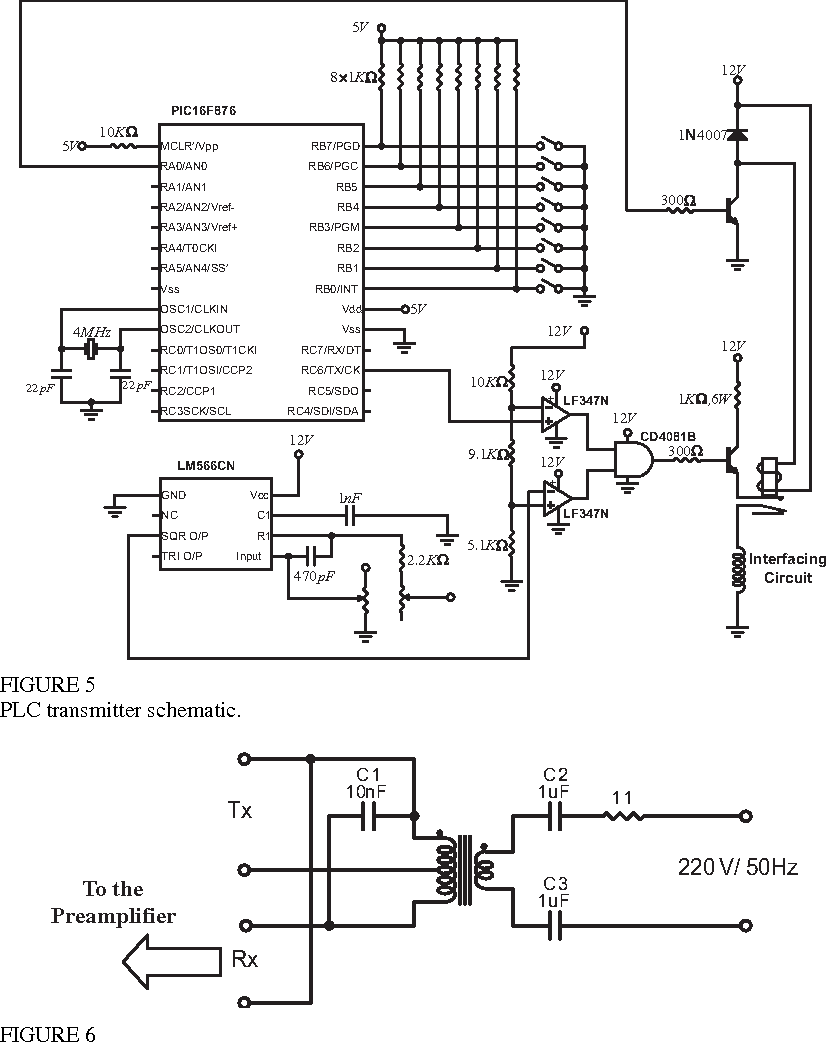Power Line Communication Circuit Diagram | Figure 5 From Design Of Power Line Communication System Plc Using