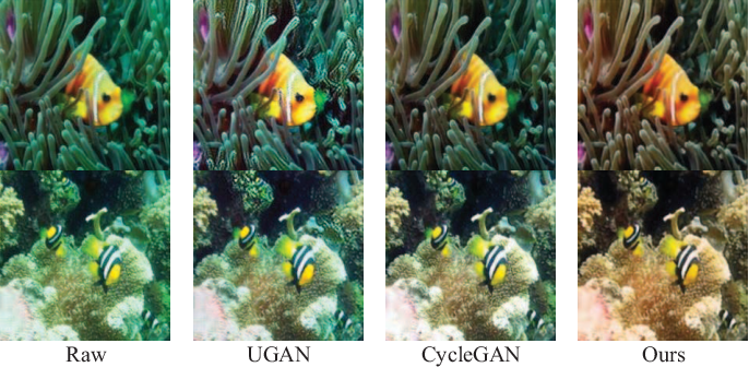Figure 4 for MLFcGAN: Multi-level Feature Fusion based Conditional GAN for Underwater Image Color Correction