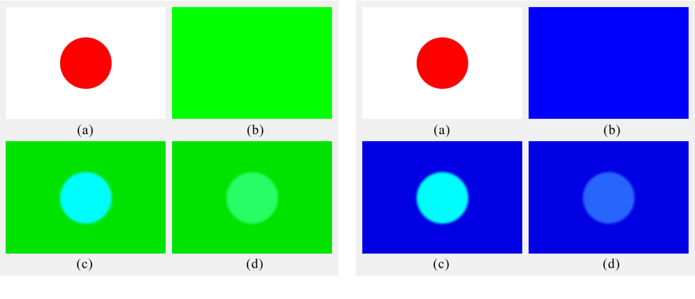 Figure 4 for A Computational Model of Afterimages based on Simultaneous and Successive Contrasts