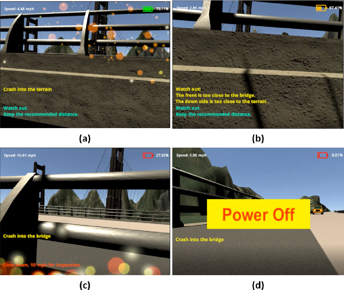Figure 3 for A Virtual Reality-based Training and Assessment System for Bridge Inspectors with an Assistant Drone