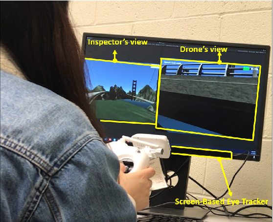 Figure 4 for A Virtual Reality-based Training and Assessment System for Bridge Inspectors with an Assistant Drone