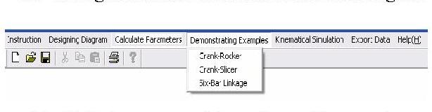 Fig. 7 The optimal design illustration for crank-slider
