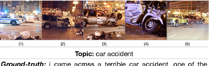Figure 1 for Keep it Consistent: Topic-Aware Storytelling from an Image Stream via Iterative Multi-agent Communication
