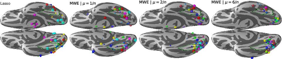 Figure 2 for Group level MEG/EEG source imaging via optimal transport: minimum Wasserstein estimates