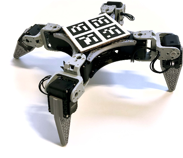 Figure 1 for RealAnt: An Open-Source Low-Cost Quadruped for Research in Real-World Reinforcement Learning