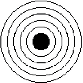 Figure 1: Picture corresponding to an object of a RingedTarget class.