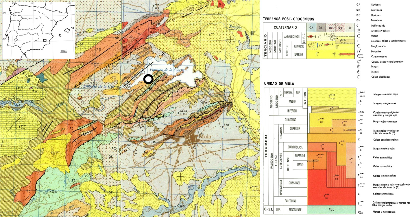 Geological Map Of Spain.Figure 2 From Formation Processes At A High Resolution Middle