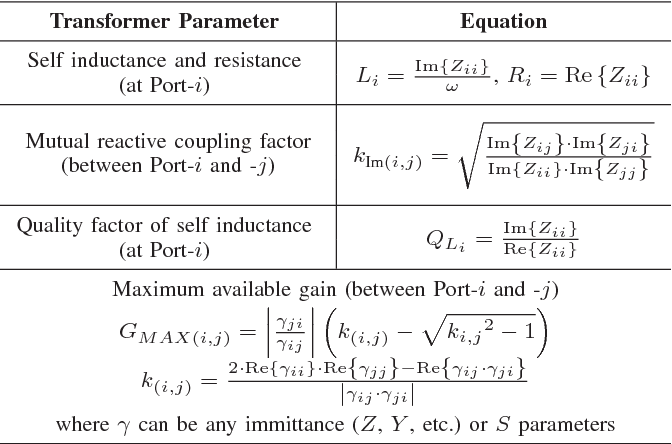 Table I from A transformer for high-power RF applications using